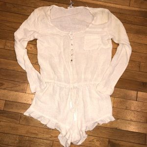 Women's Free People long sleeve romper short